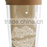 Insulated FDA Plastic Shaker bottle double wall