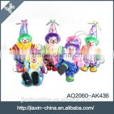 Funny customize colors holiday gift porcelain clown dolls toys