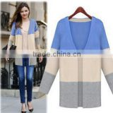 2014 new arrival stylish cotton v-collar cardigan models sweater for ladies                                                                         Quality Choice