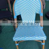 AS-6155Most Popular Outdoor Rattan Chair in Bamboo Looking Stackable French Chair