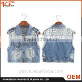 2016 European American style hot new fashion design top style short jean lady denim women jacket