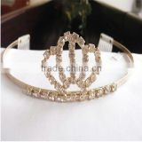 fashion gold plated cheap pageant crown wholesale