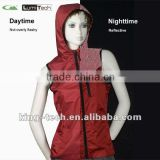 women's safety reflective hoody vest