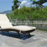 2016 cheap PE rattan garden lounger furniture set
