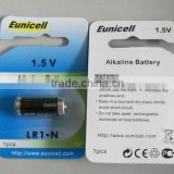 LR1 N size AM5 1.5v alkaline battery for Pet Collar with single Eunicell brand blister pack