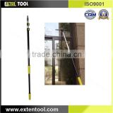 Feature mop & broom holder pole