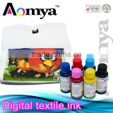 Best selling! waterbased digital textile pigment ink for Epson 1390 for bright color pattern