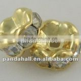 Middle East Rhinestone Jewelry Beads in Bulk, Clear(RSB031NF-01G)