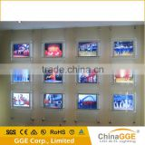 Real estate agency backlit indoor advertising led window display light pocket for decoration of Europe