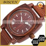 2016 Boscen Vintage Wholesale Unisex Logo Printed Oem Wooden Wood Luxury Digital Watch