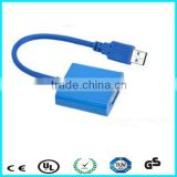 Hot selling 1080P black usb to vga adapter