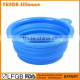 At wholesale price silicone folding pet dog travel bowl