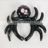 small cute inflatable black spider bat Halloween decorative headwear