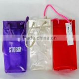 Non-toxic Phthalate Free clear pvc plastic ice cooler wine bag