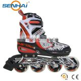 2015 Fashion Men Leather Sport Shoes Sport Safety Shoes Inline Roller Skates Shoes With single side stoppers