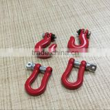 rc car tools accessories billet machined tow shackle for model 1/10 red