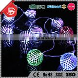 TZFEITIAN factory price indoor outdoor invisible night club hollow metal ball led decorative string light