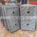 High Manganese Steel Crusher Liner Plate for Ball Mill
