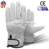 Beige Color Pigskin Leather Working Led Gloves Wholesale China