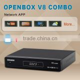 hot sale V8 combo set top box /satellite TV receiver for UK,USA,Russia ,support free sex video