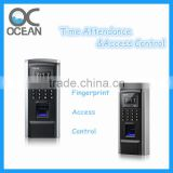 TCP IP RS485 RFID Reader Fingerprint biometric time attendance system, access control system