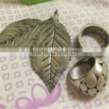 classical leaf plated casting metal pendant for bags,bead decoration accessory