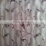 Luxury Yarn-dyed Cutain Stripe Leaf&Floral Design Fleece Base Blackout Jacquard Curtain Fabric