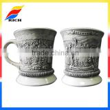 wholesale customized embossed ceramic coffee mug cups