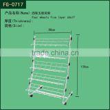 Supermarket equipment metal moving basket shelf