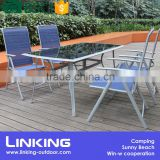 outdoor adjustable texitlene garden chair and table set