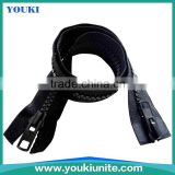 10# Woven Tape Plastic Zipper Open-end With Auto Lock Two Way Double Slider YKP-2011