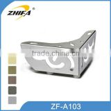 ZF-A103 new design stainless steel furniture legs sofa chair legs rubber feet for furniture