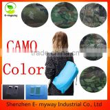 Convinient Inflatable Outdoor Air Sleep Nylon Sofa Couch Air Bag Hangout Bean Bag with Intenal External PVC for Summer Camping