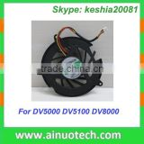 laptop cpu fan for hp DV5000 DV5100 DV8000 V5000 C300 C500 notebook mainboard cooler