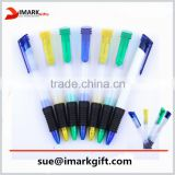 promotional plastic ball pen with colored top and tip cheap roller pen
