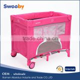 SGS certification baby play yard travel baby cot bed baby stroller playpen