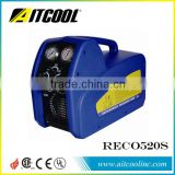 1HP Twin-piston Style Oil-less Compressor Refrigerant Recovery & Recycling Unit RECO520S, Offer with Oil Separator