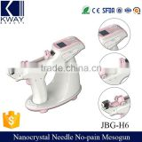 Rechargeable Nanocrystal Facial Injection No Pain Water Mesotherapy Gun Device