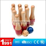 Wholesale leisure goods of wooden lawn bowling game