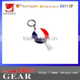 Souvenir enamel colored French country flag keychain