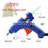 20W glue gun + 25pcs 200mm glue stick Crafts Repair Tool Mini Electric Heating Hot Melt Glue Gun