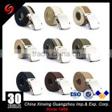 Cotton belt for army military officers ribbon customized material nylon or polyester slide metal buckle belt
