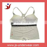 Women Fashion Seamless Cotton Spandex Racerback Sport Bra And Boyshort Sets,Style JS-105,Size B/C Cup,Accept OEM