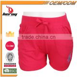 Best Selling Comfort Cotton Elastic Girls Sports Sweat Shorts with OEM ODM