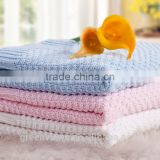 Alibaba china wholesale knitted throw blanket china Knit Newborn Baby Blanket Cashmere Knitted Blanket GVCX006