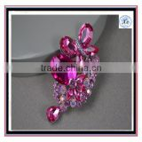 2016 Fashion brooch Pin - Pink Brooch. Wedding Jewelry Bridal Accessories Crystal Brooch Bouque
