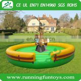Great fun inflatable bull riding machine, inflatable mechanical rodeo bull