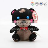 Cheap soft toys plush black chameleon toys
