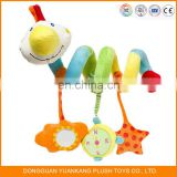 Baby Rattle Bed Stroller Plush Hanging Spiral Activity Toy for Infant Educational Toys Musical Bell