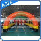 Outdoor inflatable derby race, inflatable pony hop, sport interactive game